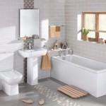 Retro Vitra Traditional Bathroom