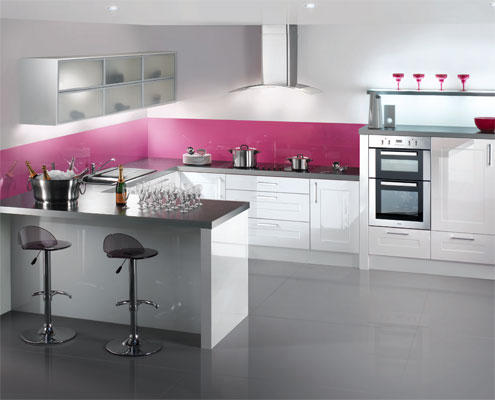 Beautiful modern and high gloss kitchens abbeywood services for Modern gloss kitchen cabinets